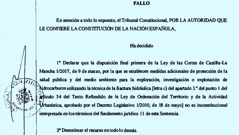 Fallo del Constitucional