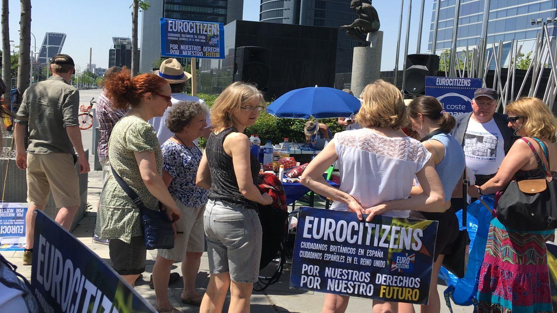Concentración anti-Brexit, en Madrid