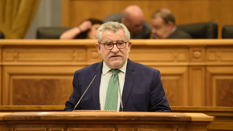 Ángel Felpeto, este jueves en el Pleno de las Cortes de CLM